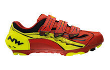 Northwave Rebel R3 men red-yellow fluo